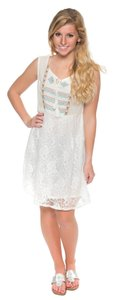 Umgee short dress ivory Sheer Lace Flowy Comfortable on Tradesy
