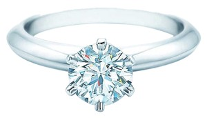 Tiffany & Co. The Tiffany(R) Setting Round Diamond Ring Size: 4.5 EU: 48