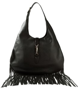 Gucci Fringe Leather 351783 Hobo Bag
