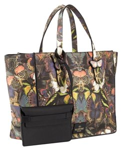 Valentino Butterfly Camo Camouflage Tote in Multicolor NWT