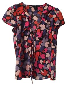 Marc by Marc Jacobs Top Pink, Purple, Blue Floral Print