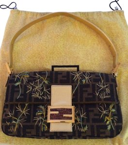 Fendi Designer Special Edition Embroidered Metal Baguette