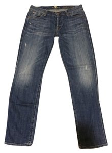 7 For All Mankind Skinny Skinny Wash Boyfriend Cut Jeans-Medium Wash