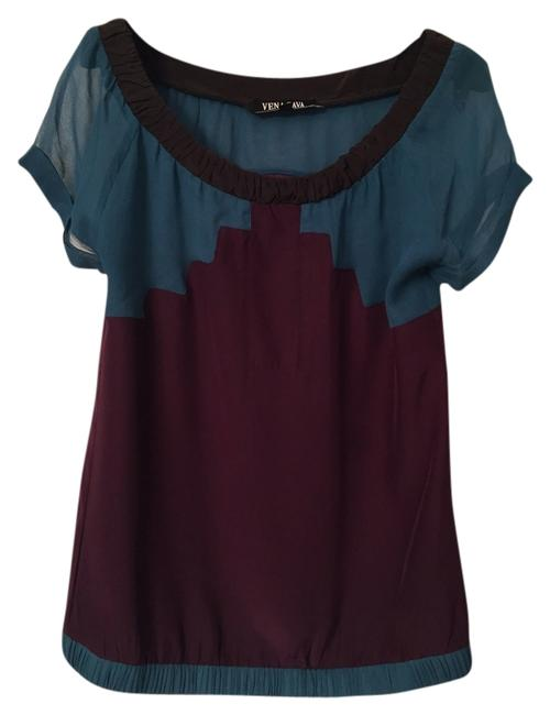 Preload https://img-static.tradesy.com/item/9616291/vena-cava-teal-and-burgundy-blouse-size-0-xs-0-1-650-650.jpg