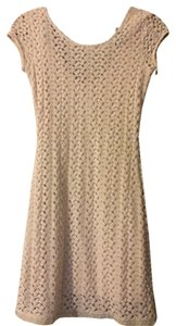 Free People short dress Cream Bodycon Lace on Tradesy