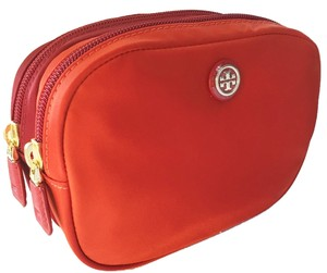 Tory Burch Tory Burch $115 BRAND NEW WITH TAGS TORY BURCH TRAVEL NYLON DOUBLE COSMETIC CASE BAG POUCH EQUESTRIAN ORANGE
