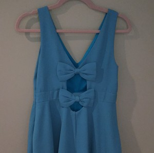 Minuet Petite short dress Blue on Tradesy