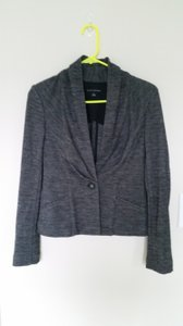 Banana Republic Tweed Cowl Gray Blazer
