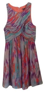 A|X Armani Exchange short dress Gray purple multi on Tradesy