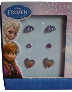 Disney New 3 Pair Disney Frozen Stud Earring Set