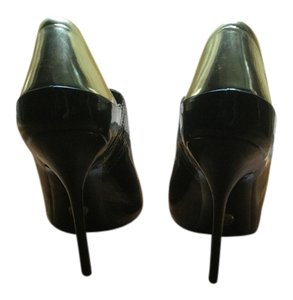 Gucci Patent Leather Bootie Runway Black / Gold Boots
