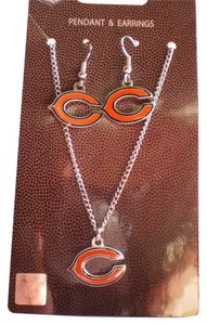 NFL Bears NFL Chicago Bears Earring and Necklace Set