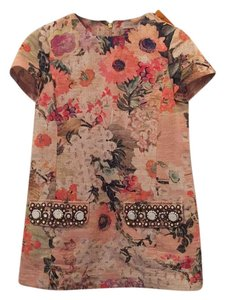 Tory Burch Floral Texture Petite Embellished Tunic