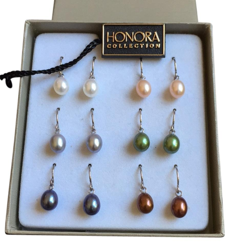 Honora Collection Fresh Multi Colored Freshwater Pearl Earring Set 6 Pairs In
