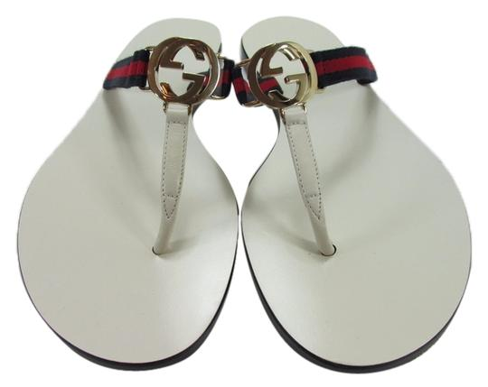 29eebdc0e4d Gucci White Womens Gg Leather Flip Flop   Sandals. Size  US 7 Regular (M ...
