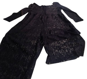 Coco California CALIFORNIA PLACE BLACK LACE JUMPSUIT COVER-UP SIZE L