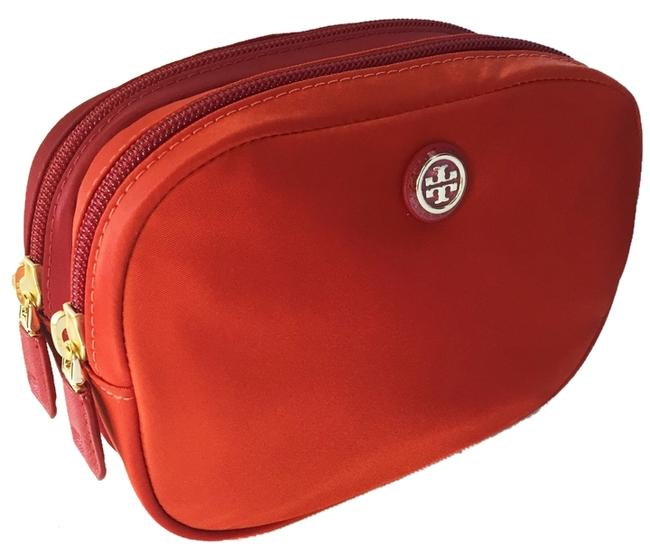 Item - Cosmetic Case With Double Equestrian Orange Nylon Weekend/Travel Bag