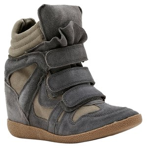 Steve Madden Sneakers Suede Grey Wedges