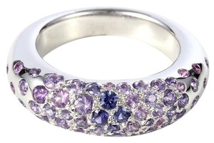 Chaumet Chaumet 18k White Gold Sapphire Ring s2.00ct Purple US 7.5