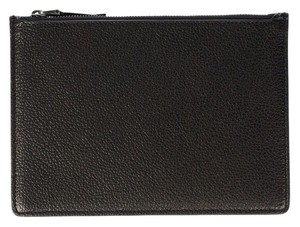 Helmut Lang Leather In In New Black Clutch