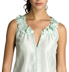 J.Crew Silk Spring Top Light Green