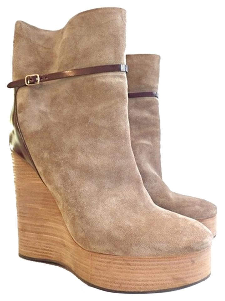 Chloé Taupe Suede Wedge Ankle BootsBooties Size US 10 Regular (M, B) 81% off retail