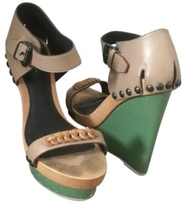 Bottega Veneta Green Wedges