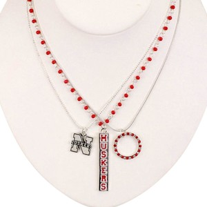 Collegiate Football Nebraska Cornhuskers Necklace Trio