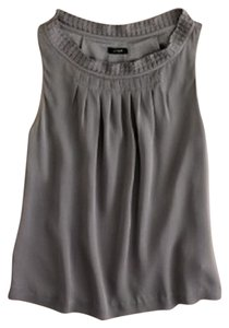 J.Crew Silk Spring Top Gray Pewter
