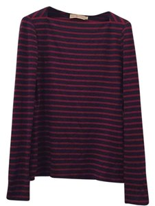 Tory Burch Boatneck Striped Boatneck Sailor Sweater