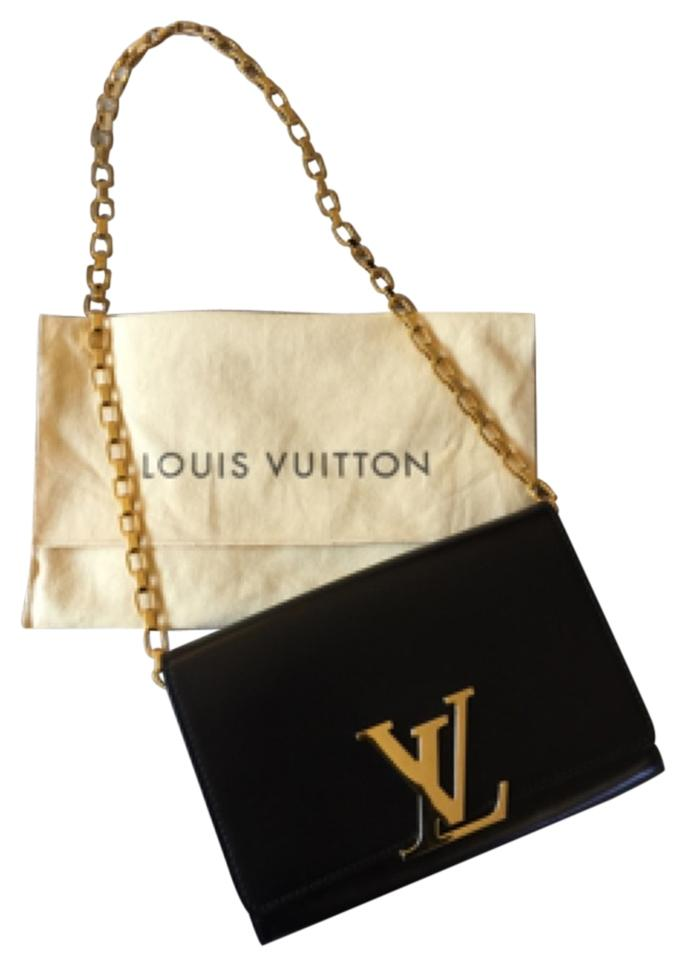 14686dda348 Louis Vuitton Calfskin Gold Hardware Chain Monogram Shoulder Bag Image 0 ...