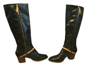 Schuler & Sons Soft Stack Heels Full Zippers U.s. Lining Black gorgeous leather U.S. made knee Boots