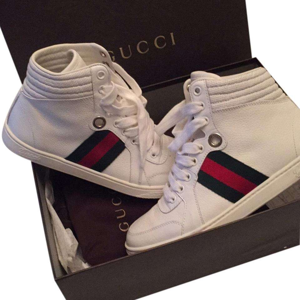 a7d44d1f096 Gucci White with Green Red Stripe 257353 Adfx0 9060 Sneakers Size US ...