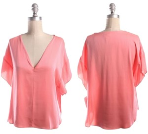 MILLY Top Coral
