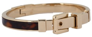 Michael Kors Nwt Michael Kors Tortoise Acetate Gold Tone Buckle Bangle Bracelet