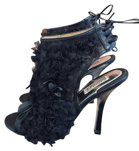 Badgley Mischka Open Back Black Pumps