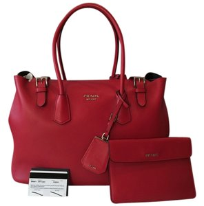 Prada City Shopping Tote in RED