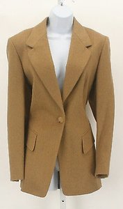 Saks Fifth Avenue Saks Fifth Avenue Camel Camelhair One Button Blazer B190