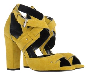 Barbara Bui Suede Yellow Sandals