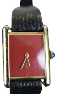 Cartier Cartier Vintage Ladies Tank Watch - Gold Vermei