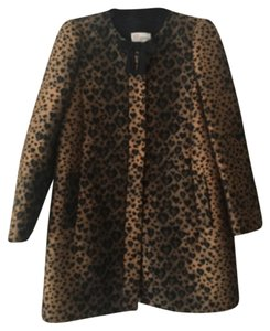 RED Valentino Leopard Heart Jacket Trench Coat