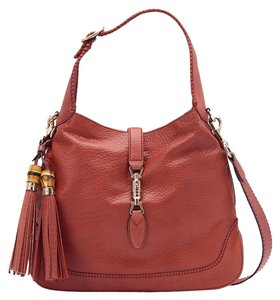 Gucci Leather Bamboo Tassels New Jackie Shoulder Bag