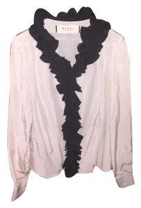 Marni Top Ivory with black detail