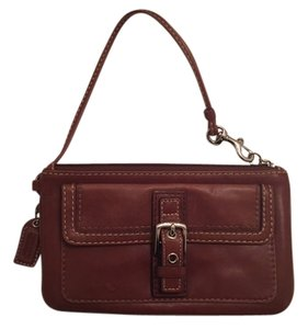 Coach Buckle Wristlet in Brown