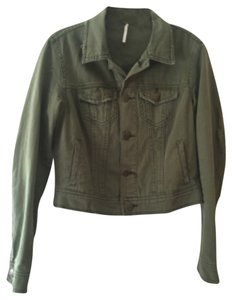 Free People Olive Motorcycle Jacket
