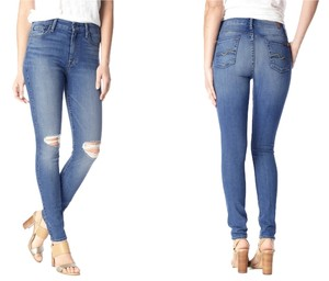 7 For All Mankind High Waist Skinny Jeans-Distressed