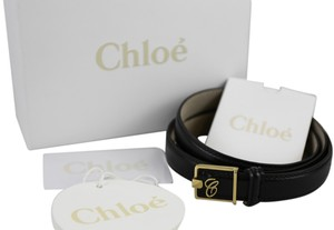 Chloé * CHLOE Black Leather 'C' Belt - Size Small