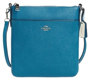 Coach Leather Blue Green Cross Body Bag