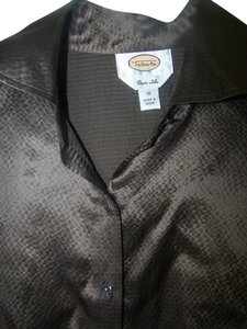 Talbots Button Down Shirt Brown