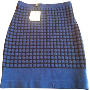 Opening Ceremony Dotted Skirt Cobalt Blue